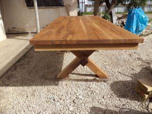שולחן פיקניק נזירים מעץ אלון