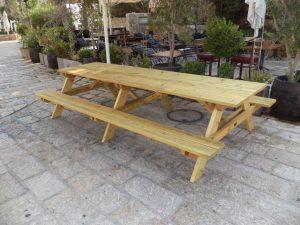שולחן פיקניק גדול ואיכותי